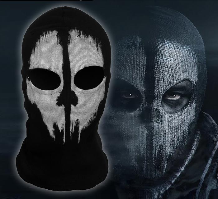 High Quality Balaclava Hood Face Ghost Skull Mask Hood Call Of Duty Ghost Mask Biker Halloween Skateboard
