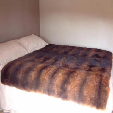 32 Skin Possum Fur Throw/Quilt