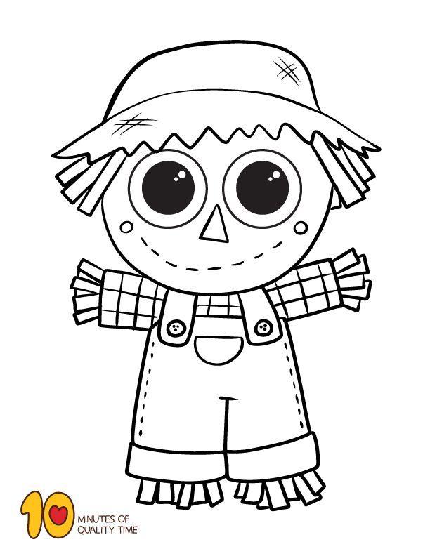 Scarecrow Coloring Sheet Coloring Scarecrow Sheet