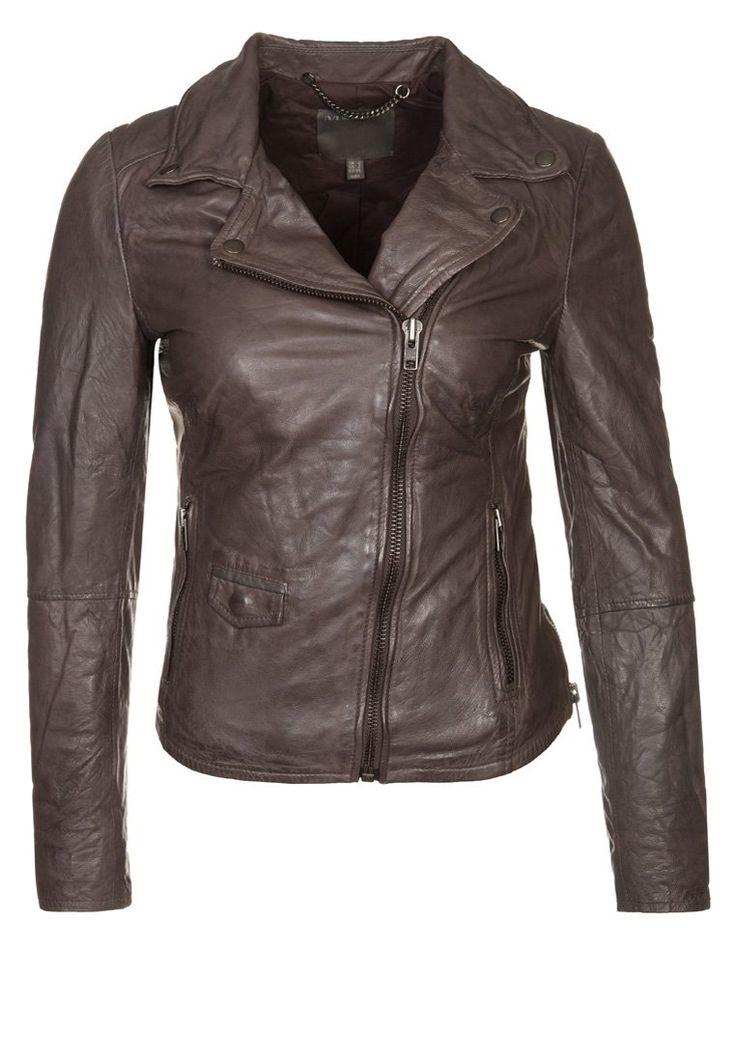 muubaa LYME Leather jacket grey