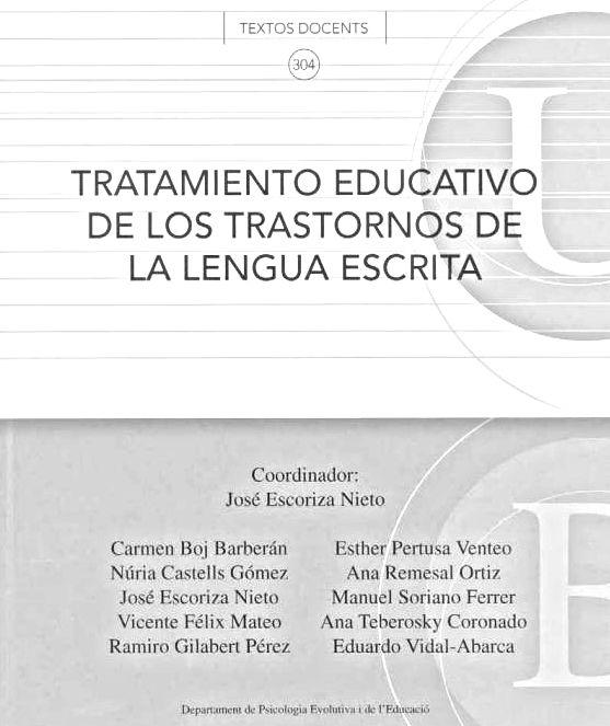 DISLEXIA: INVESTIGACIÓN Y TRABAJO: TRATAMIENTO EDUCATIVO DE LOS TRASTORNOS DE LA LENG...