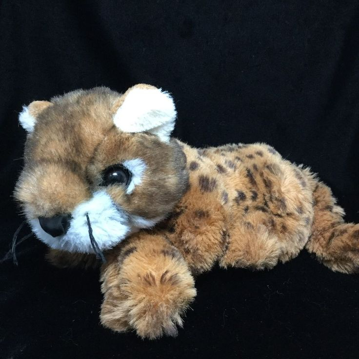 """Discovery Channel Brown Leopard Spots Plush Soft Toy Stuffed Commonwealth 11"""" #CommonwealthToys"""