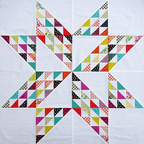"""Chicopee Giant Vintage Star"" quilt by Rita Hodge of Red Pepper Quilts. Simple, yet sublime."