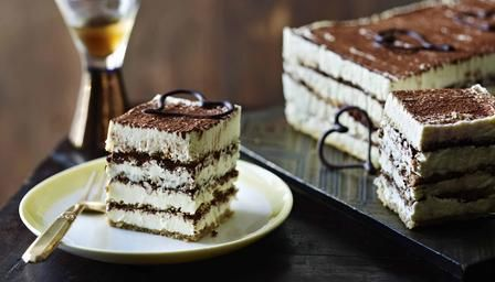 BBC - Food - Recipes : Tiramisu cake // Like Mary Berry herself, this version of tiramisu is elegant, generous and very sweet.