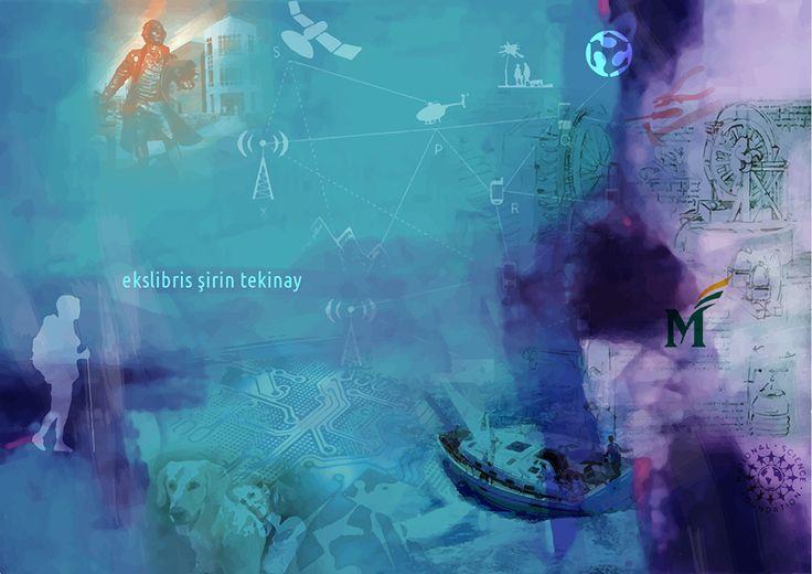 Şirin Tekinay için Ekslibris, CGD, 85x120, 2016