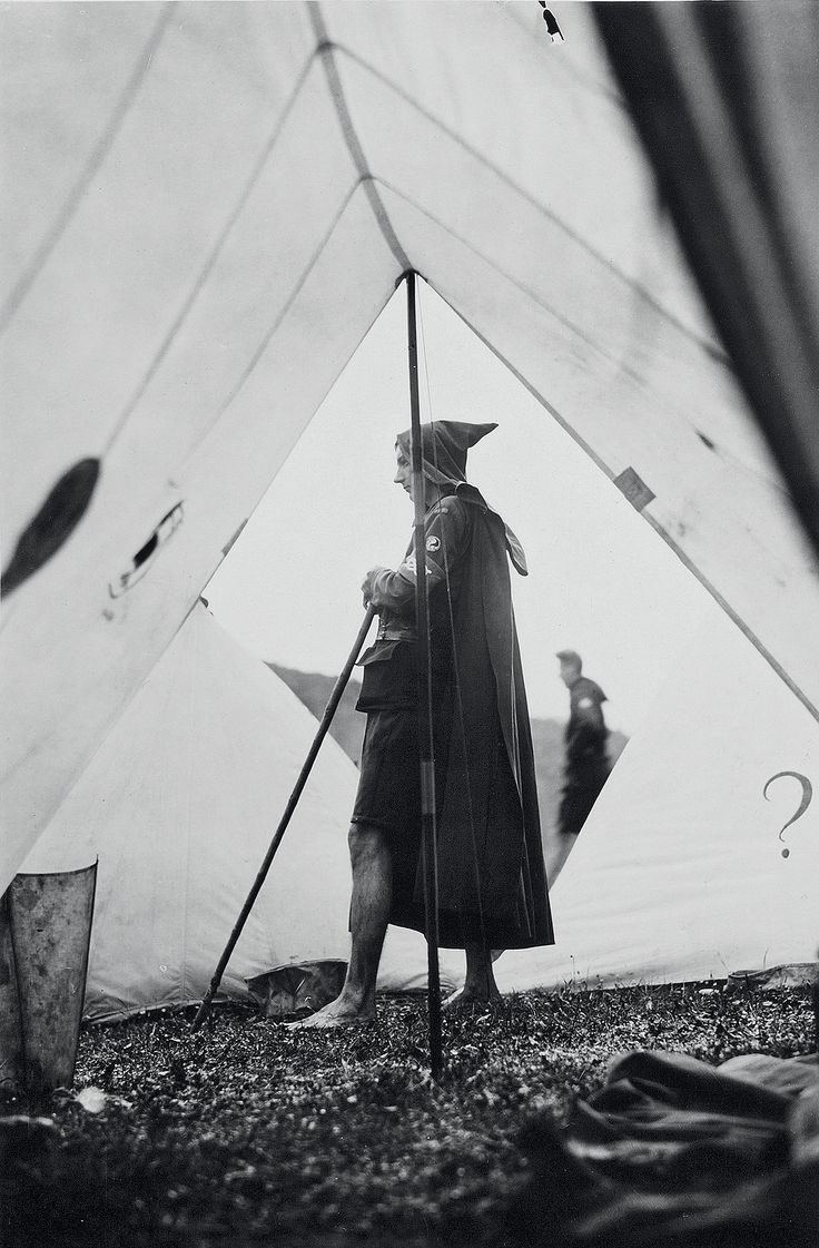 Strange habits: Britain's oddest youth movement – in pictures. A Kibbo Kift kinsman outside his homemade tent, c 1928