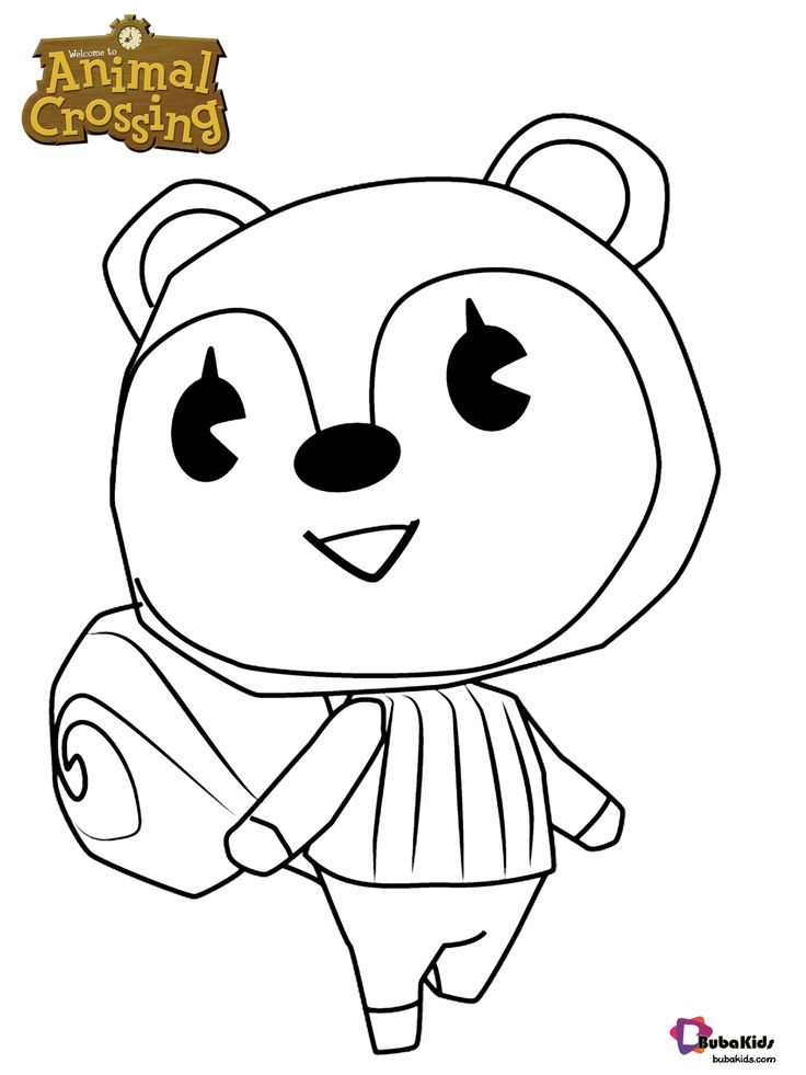 Poppy Animal Crossing character coloring page Collection