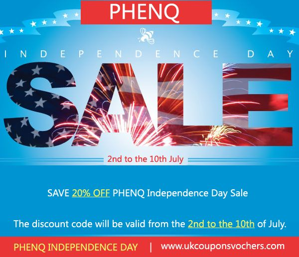 30 best uk coupons vouchers images on pinterest coupon coupons phenq independence day sale save 20 off phenq coupon code http fandeluxe Images