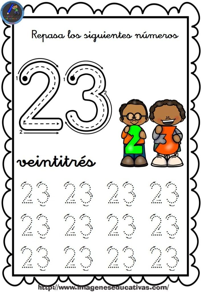 Completo Cuaderno Para Repasar El Trazo Numeros Del 1 Al 30 23