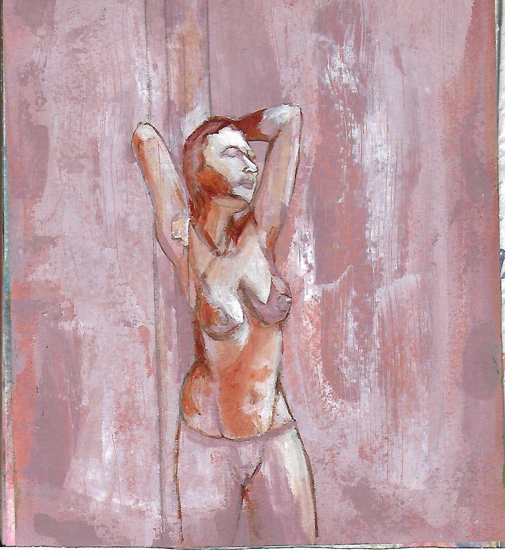 Angelika 2015 Acrílico sobre papel - Acrylic on paper.