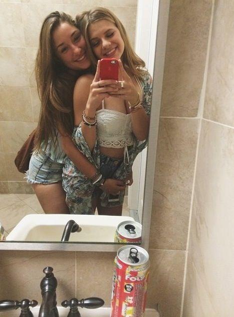 Lesbian best friends nude selfies