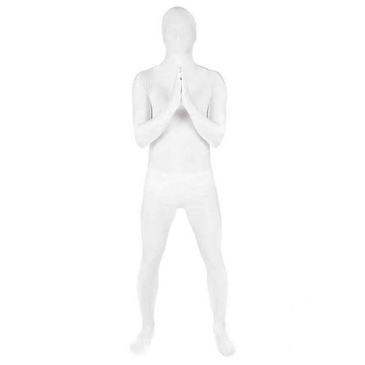 Morphsuit Hvit - Heldekkende kostyme til voksne | Festmagasinet Standard