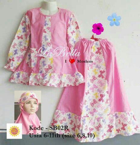 Baju muslim anak brand LaBella,bahan katun jepang. Untuk usia 6-11th,harga 130rb. Ready size 6,8 dan 10.  Pin bbm 7D216AC5 WhatsApp 081314120672 Line ummuzzahro