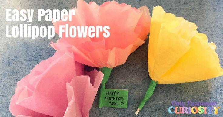 Easy Paper Lollipop Flowers