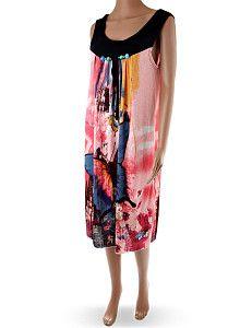 Ružové letné šaty s motýľmi ABUes  Voľné ľahké ružové letné šaty pod kolená. Šaty majú čierne hrubšie ramienka ozdobené šnúrkou a bledomodrými korálkami.  http://www.yolo.sk/saty/ruzove-letne-saty-s-motylmi-abues