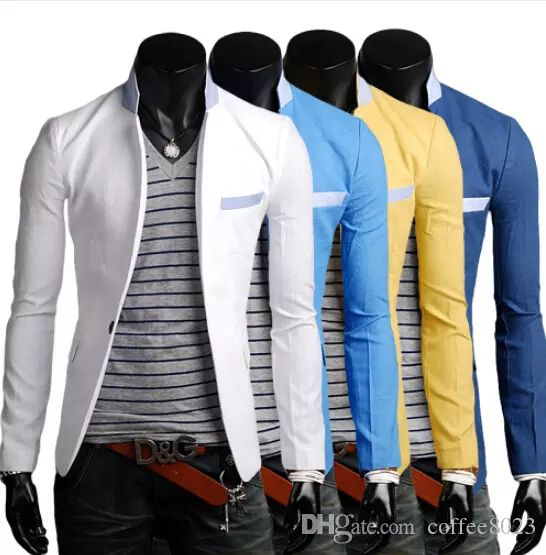 2017 Free Shippping New Slim Fit Blazers For Men Casual Suit Jacket Fashion Blazer Men Cheap Mens Blazers Coats Summer Style Platy Dress From Coffee8023, $23.12 | Dhgate.Com