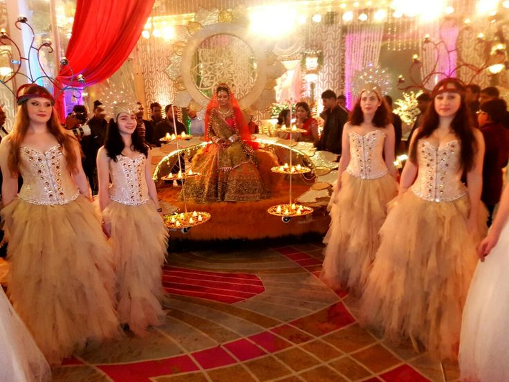 Apsara Dance theme for Bridal Royal Entry. Managed by Aouraa Production