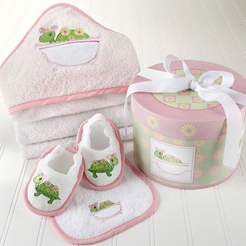 Baby Aspen Tillie the Turtle Four-Piece Bathtime Gift Set - Baby Shower Gift