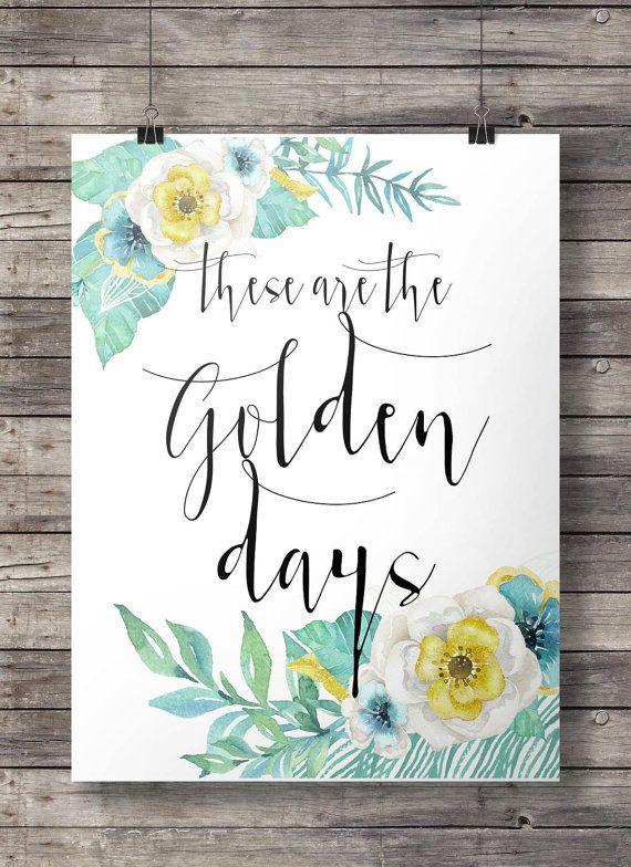 Das sind die goldenen Tage  Kalligraphie Aquarell von SouthPacific
