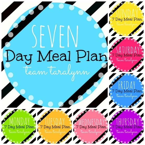 Easy to follow! Seven Day Meal Plan! StartingTomorrow!