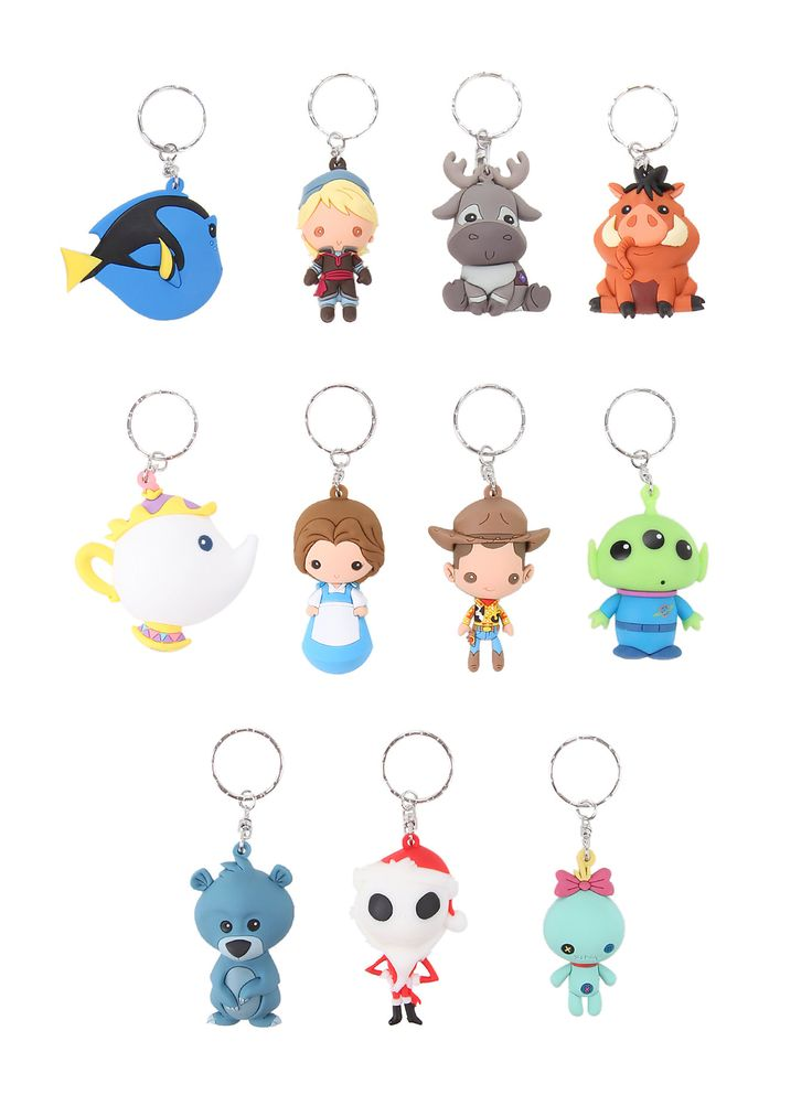 <p>Oh the suspense! Which Disney key ring will you receive?Nobody knows. Each key ring is wrapped in a blind foil bag, so you don't know what you're getting until you open it.</p>  <p>Will it be Woody, Scrump, Dory or Pumbaa?</p>  <p>Sorry, no choice or returns.</p>  <ul> <li>Imported</li> </ul>