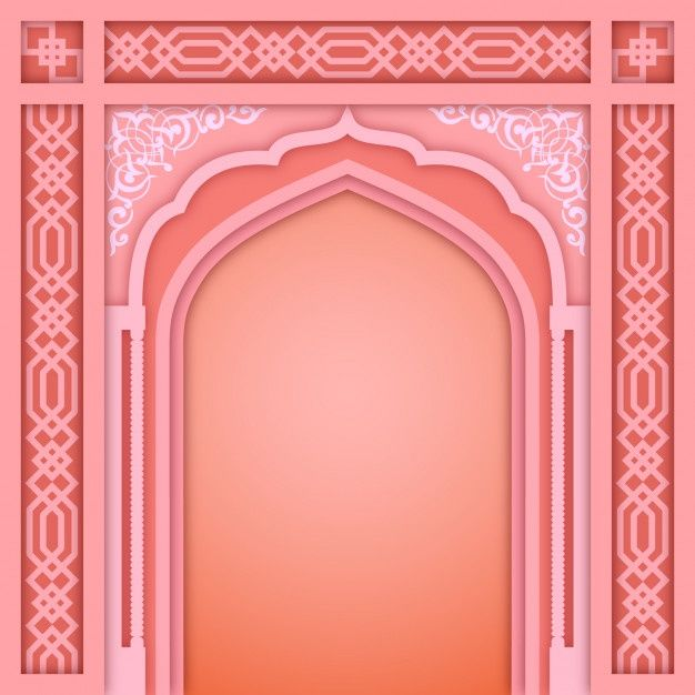 Pink Islamic Arch Design Template In 2020 Design Template Geometric Pattern Background Design