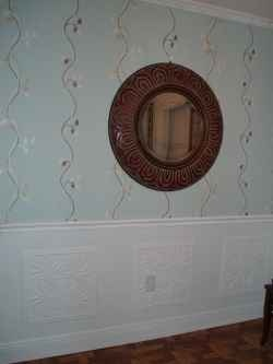 I wanted to do wainscoting in my dining room, but I was afraid to tackle the job. I had a fear of making miter corners, that would be lopsided...