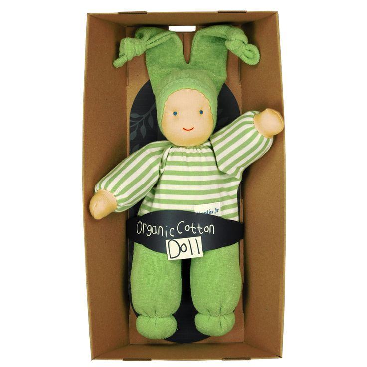 Keptin-Jr Rag Doll. Made & designed in Europe from certified organic cotton and filled with pure sheep's wool.