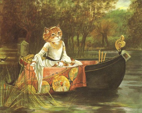 Susan Herbert - Waterhouse -  la Dame de Shalott,