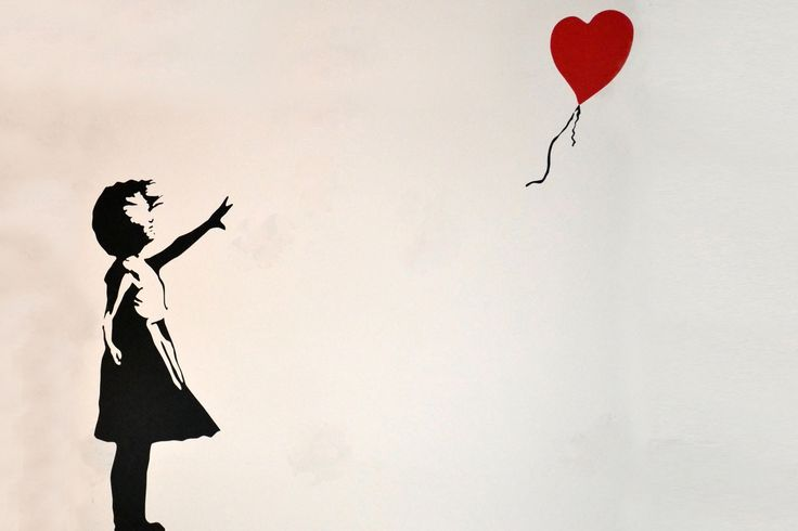 Banksy Balloon Girl Mural, custom made to suit your wall size by the UK's No.1 for murals. Custom design service and express delivery available.