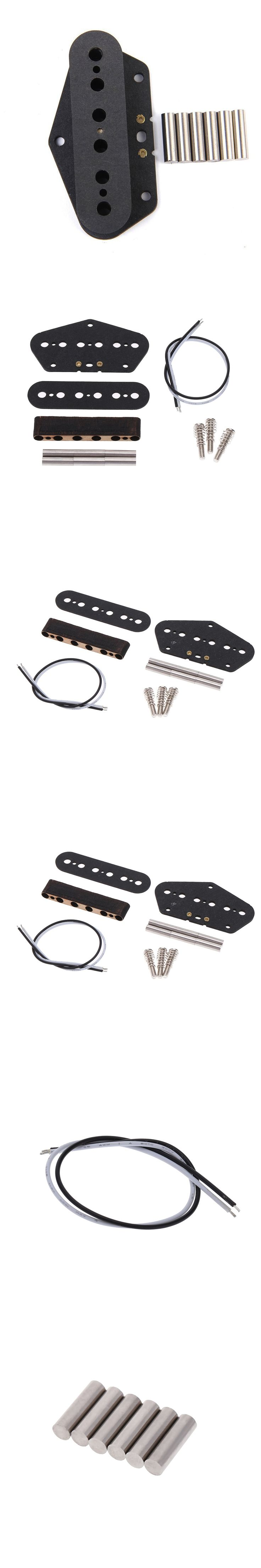 New Arrival A Set Fiber Plate Guitar Pickup Bobbin Stagger With 6pcs Magnetic Bar Guitar Pickup Kits Guitar Accessories
