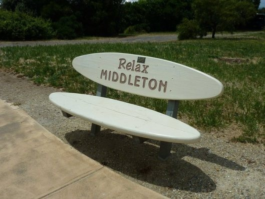 This seat pretty much sums up the town of Middleton. A great place to relax.