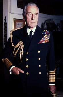 Lord Louis Mountbatten, 1st Earl of Burma, in 1976, 3 years before his murder. The IRA bomb which killed him also took the life of his 14-year-old grandson, Nicholas, son of his daughter Patricia. Patricia, her husband, and Nicholas' twin brother, Timothy, were all severely injured in the dreadful attack.