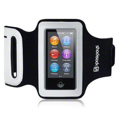 iPod Nano 7 Shocksock Reflective Sports Armband / Case / Cover / Holder - Black
