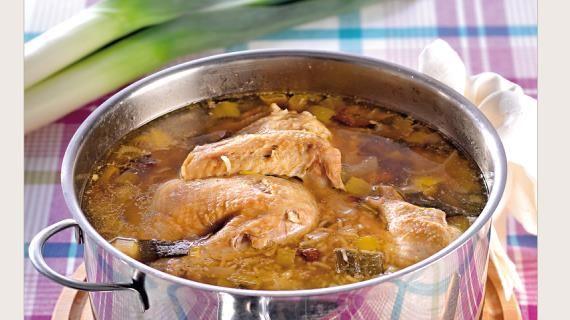 Кок-а-лики. Пошаговый рецепт с фото на Gastronom.ru(Шотландский  куриный суп с рисом и черносливом)