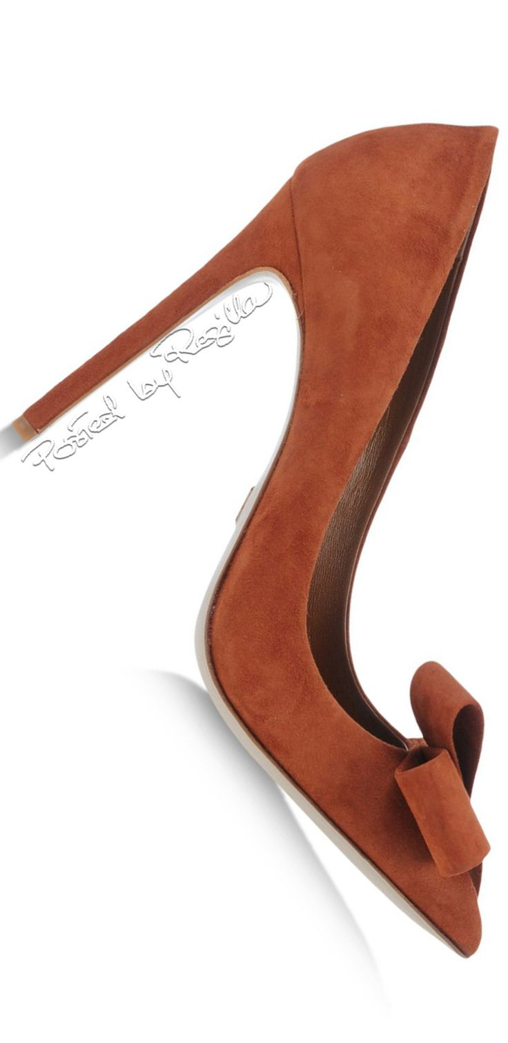 Daniele Michetti ~ Fall Suede Pump w Toe Bow 2015