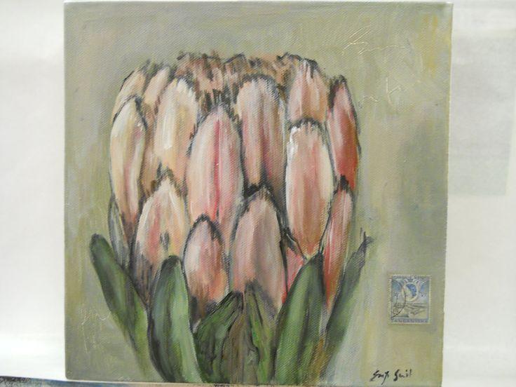 """""""Protea"""" Acrylic on canvas"""