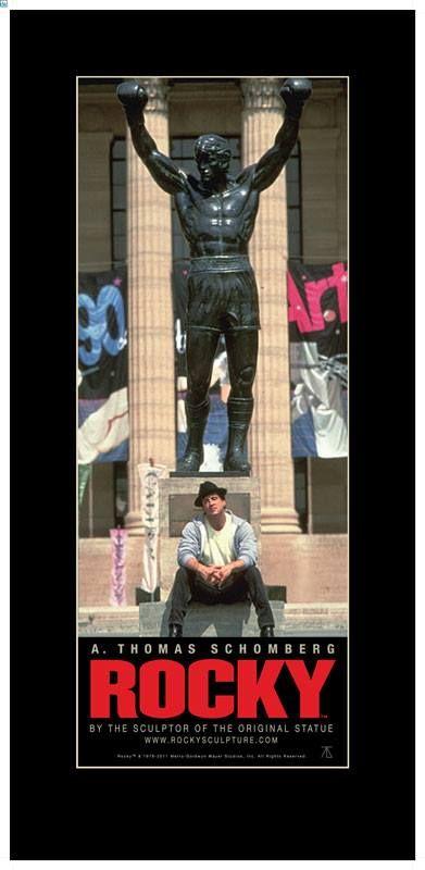Rocky & his statue