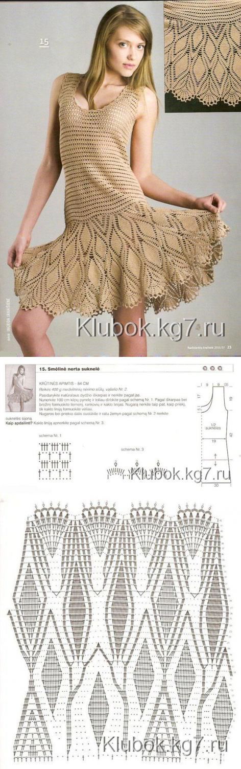 юбки ,платья вязанные крючком