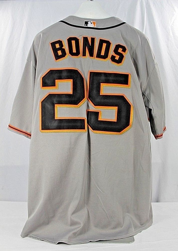 San Francisco Giants Barry Bonds  25 Gray Jersey Majestic Cool Base 54  Stitched  sfgiants  Majestic  SanFranciscoGiants 3cda044b0