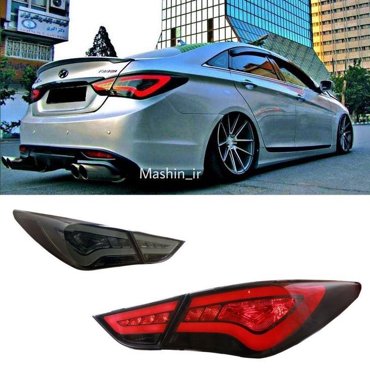 LED Tail Lights For Hyundai Sonata 2011-2014 YF KDM Look Rear Lamps Red Smoked  #Vland #LEDFiberOpticStyle