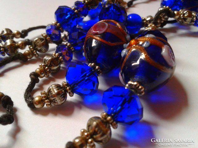 Royal Blue velencei üveg nyakék.