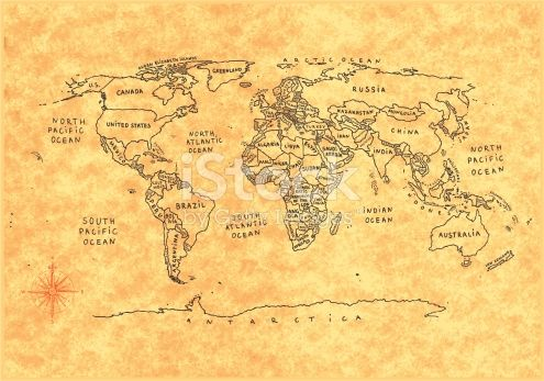An outline World map with countries Every country easy to edit - copy world map vector graphic