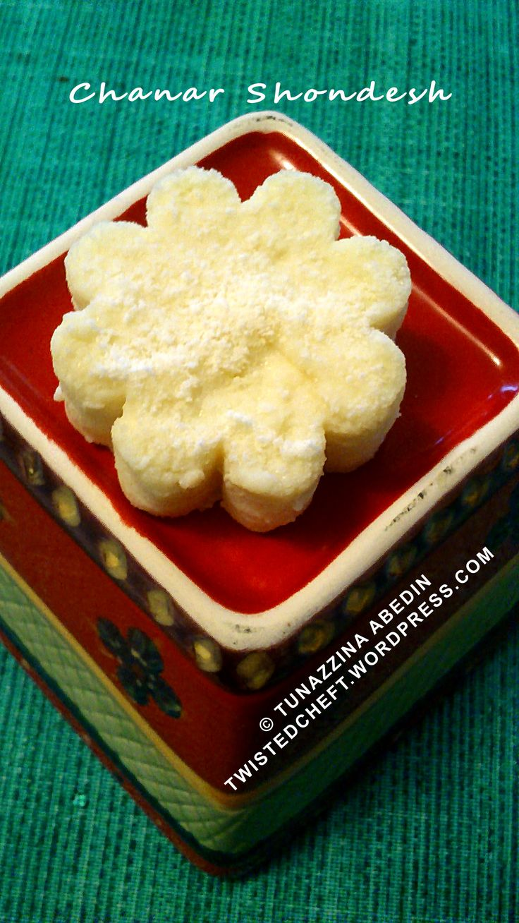 A Traditional Bengali Sweets Chanar Shondesh Ricotta Cheese Sweet In Not So Traditional