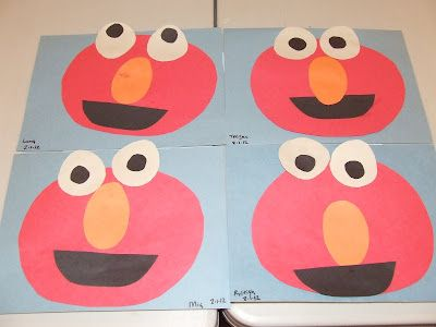 Best 25 construction paper projects ideas on pinterest for Elmo arts and crafts