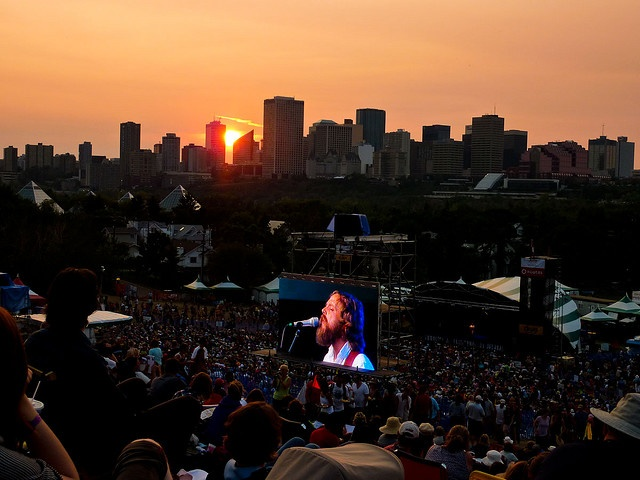 View from Edmonton Folk Festival.