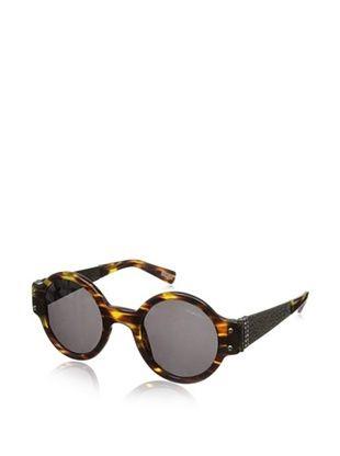 Lanvin Women's SLN512S Sunglasses, Striped Havana