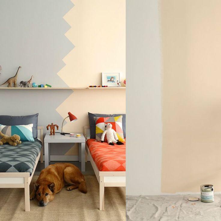 Kinderzimmer in zwei teilen und streichen Stoff