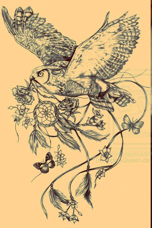 dreamcatcher tattoo photo: owl_and_dreamcatcher_tattoo_commission_by_nightsqueen-d4mu5ef owl_and_dreamcatcher_tattoo_commission_by_nightsqueen-d4mu5ef.jpg