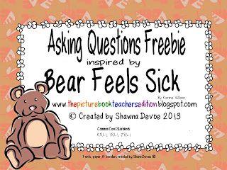 Bear Feels Sick by Karma Wilson - Teaching Ideas